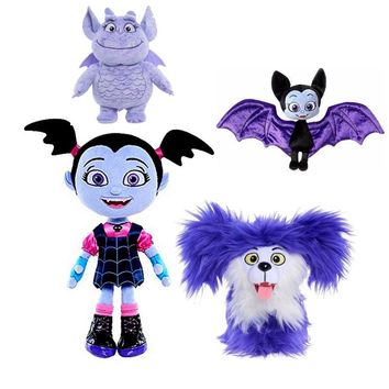 25cm  Vampirina The Vamp Bat Girl and the Purple Dog  Stuffed Animal Plush Doll Toy For Kids Girls Christmas Gifts