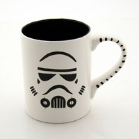 Star Wars (R) Inspired Storm Trooper Mug in Black and White Great for Dad