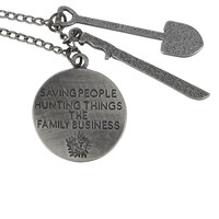 Supernatural Family Business Charm Necklace