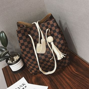 2Pcs Womens Tassel Handbag