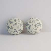 "Fabric Covered  Modern Gauged Earrings Plugs Eyelets Available In 8g 6g 4g 2g 0g 00g 000g 1/2"" 9/16"" 5/8"" 3/4"""