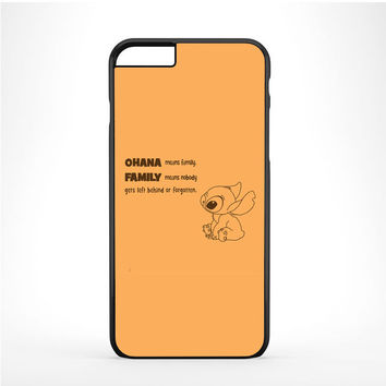 Lilo & Stitch Ohana Means Family Iphone 6 Plus | 6s Plus Case