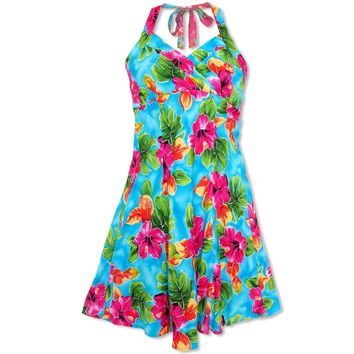 Hoopla Blue Napali Hawaiian Dress
