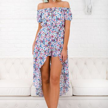 Thank Goodness I'm Yours Floral Raxi (White)