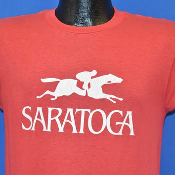 80s Saratoga Springs Race Track t-shirt Small