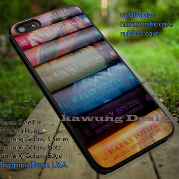 Harry Potter Books iPhone 6s 6 6s+ 5c 5s Cases Samsung Galaxy s5 s6 Edge+ NOTE 5 4 3 #movie #HarryPotter dt