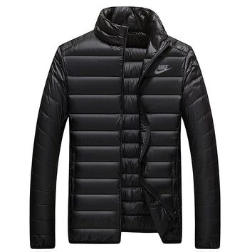 Nike Women Men Fashion Casual Eider Down Cardigan Jacket Coat Windbreaker