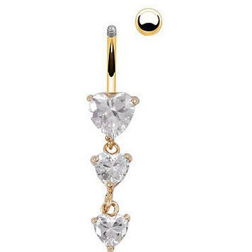 New Charming Dangle Crystal Navel Belly Ring Bling Barbell Button Ring Piercing Body Jewelry = 4661566148