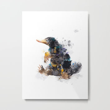 Niffler Metal Print by MonnPrint