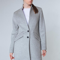 Gray Coat Gray Jacket Spring Women Coat Wool Coat Trendy Coat Short Coat Classy Coat Gray Outwear