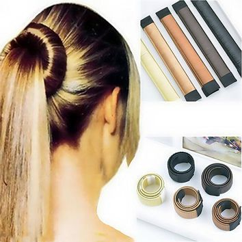 DCCKHY9 Women Hair Accessories New Hair Curls Bun Hair Band Hair Twist Styling Synthetic Wig Braid Tools Bun Maker