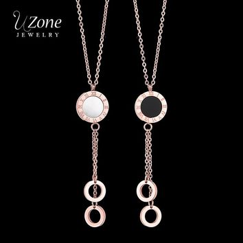 Famous Brand Jewelry Roman Numeral Necklace Extension Chain 316L Stainless Steel Shell Necklace For Women