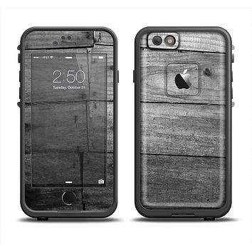 The Gray Worn Wooden Planks Apple iPhone 6 LifeProof Fre Case Skin Set