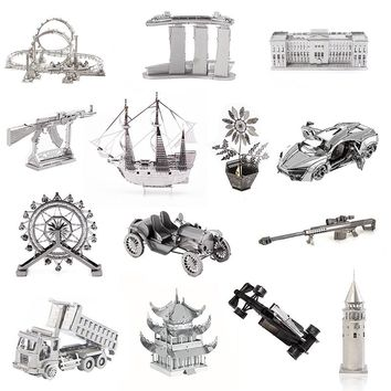 3D Car Assembly Model Metal Puzzle Laser Cutting Adult Model Jigsaw Metal Puzzle Collection Educational Toys Diy Creative Gift
