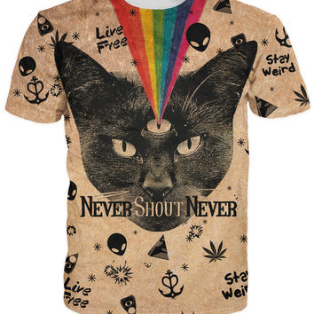 Black Cat T-Shirt Never Shout Never