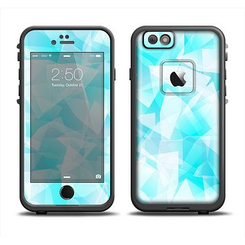 The Vector Abstract Shaped Blue Overlay Apple iPhone 6 LifeProof Fre Case Skin Set