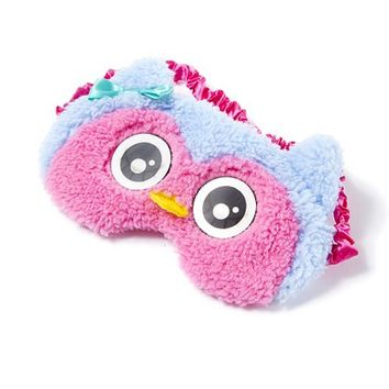 Fuzzy Owl Sleep Mask | Claire's