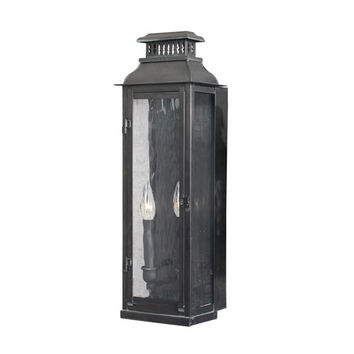 Elk Lighting 1299-OB Williams Towne Verde Patina 23-Inch Two Light Outdoor Sconce
