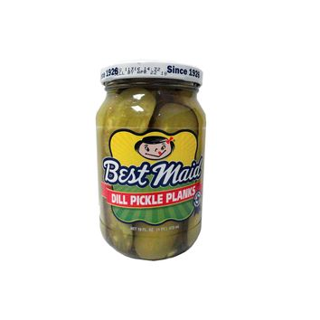 BEST MAID DILL PICKLE PLANKS **-GLASS 16OZ