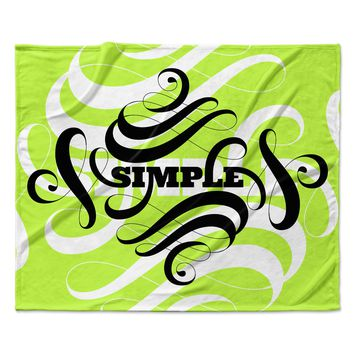 "Roberlan ""Simple"" Lime Green Fleece Throw Blanket"