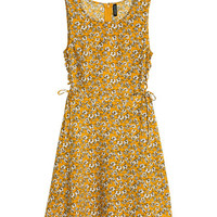 Patterned Dress with Lacing - from H&M