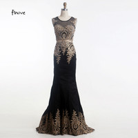 Black Mermaid Evening Gown Dresses New Style with Appliques Taffeta Red Prom Dresses