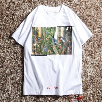 Off White Men Fashion Casual Sports Shirt Top Tee-30