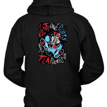 Twenty On Pilot Philadelphia Concert Poster Hoodie Two Sided