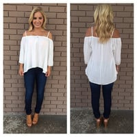 A Little Off Shoulder Top - White