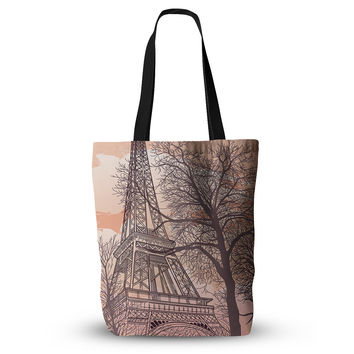 "Sam Posnick ""Eiffel Tower"" Everything Tote Bag"