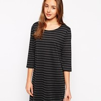 b.Young Striped 3/4 Sleeve Jersey Dress
