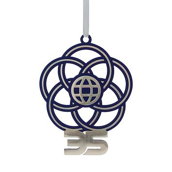 Disney Epcot 35th Anniversary Ornament Metal Walt Disney World New