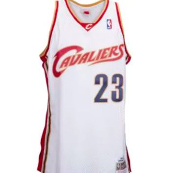 LeBron James 2003-2004 Cleveland Cavaliers Mitchell & Ness NBA Swingman Jersey White