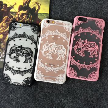 Cute Elephant Lace Case