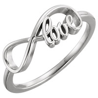 Continuum Sterling Silver Love Infinity Design Ring