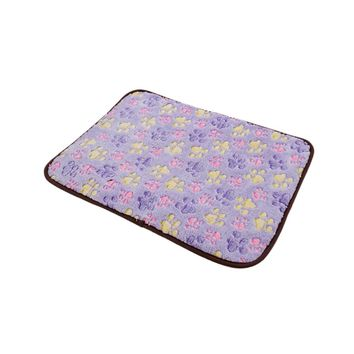 Purple Bamboo Pet Dog Double-sided Mat Summer Puppy Cooling Mat Pad Bed Blanket