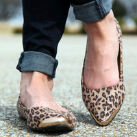 Jungle Jane Leopard Flats