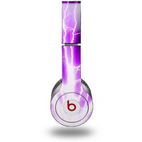 Lightning Purple Decal Style Skin - fits genuine Beats Solo HD Headphones (HEADPHONES NOT INCLUDED)