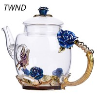 Enamel Glass Teapot