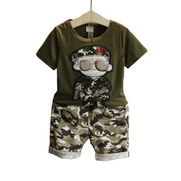 Shirt And Pant Sets Camouflage Print Clothing