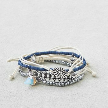 AEO SILVER & BLUE ARM PARTY