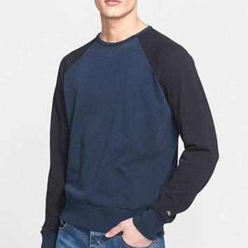 Men's rag & bone 'David' Colorblock Raglan Sleeve Sweatshirt ,