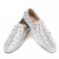 Luxury Glitter Spikes Leather shoes