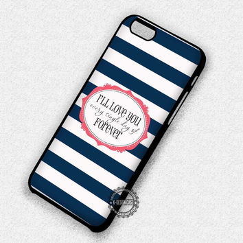 Navy Blue Stripes - iPhone 7 Plus 6 5 4 Cases & Covers