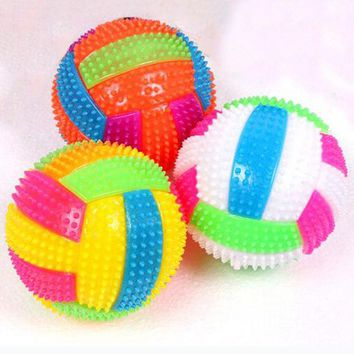 DCCKL72 Baby Kids Light-up Toy Volleyball Bouncing Balls Children Luminous Toy Flashing Party Gift