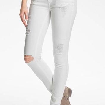 'Verdugo' Destroyed Ultra Skinny Jeans (Optic White Deconstruction)