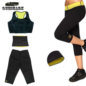 Hot Shapers Suit Super Stretch Neoprene Sports Shapers Fitness Cloth Set Women's Slimming Yoga Sets