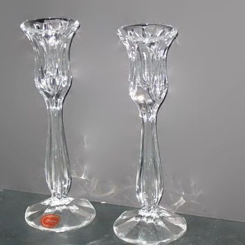 Vintage Gorham Crystal, Candle Holders, Candlestick Holder, Home Decor, Vintage Crystal, Gorham Crystal, Table Decor, Collectible Holders