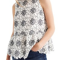 J.Crew Embroidered Floral Top (Regular & Petite) | Nordstrom