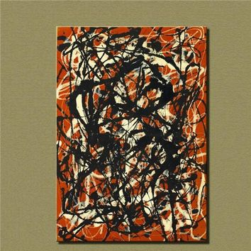 Cuadros 2016 Top Fashion Sale Wall Art Large Paintings For Home Decor Idea Painting Print On Canvas Jackson Pollock Free Form